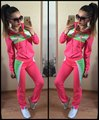 2016 Brand Tracksuit Women Suit Hoodie Sweatshirt+Pant suits for women Sportswear 2pc Set