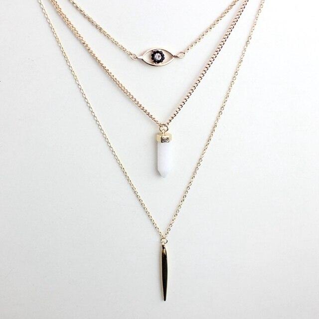 Фото chicvie яркое ожерелье с бусинами подвеска золотого цвета ожерелья цена