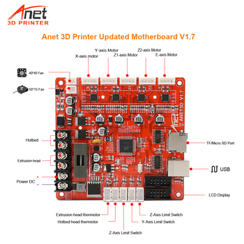Anet Upgrade Main Board Mother Board Control Board Mainboard for Anet A8 A6 RepRap Prusa i3 3D Printer DIY Self Assembly Kit 3d printer control board diy kit part tronxy melzi 2 0 1284p 3d printer pcb board ic atmega1284p accessories free shipping