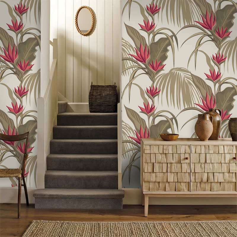 Tuya Art wall covering vintage cream & red floral art classic design wallpapers for walls living room and bed room wall decor tuya art tuya cutom 3d wallpaper on the wall wholesale photo picture wall mural for the living room bedroom children s room