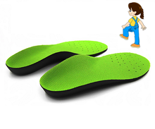 Kids orthopedic insoles for children shoes Children EVA flat foot arch support orthotic shoe Pads Correction health feet care