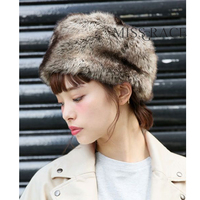 Fox Fur Faux Fur Hat Leather Pocket Strawhat Warm Hat Winter Women S All Match Snow