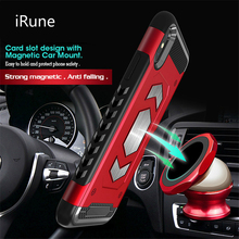 For iPhone X XR 7 8plus Case PC Armor Hybrid Car Magnetic Bracket Case for iPhone XS Max X 6 6s 7 8 Plus Credit Card Holder Case
