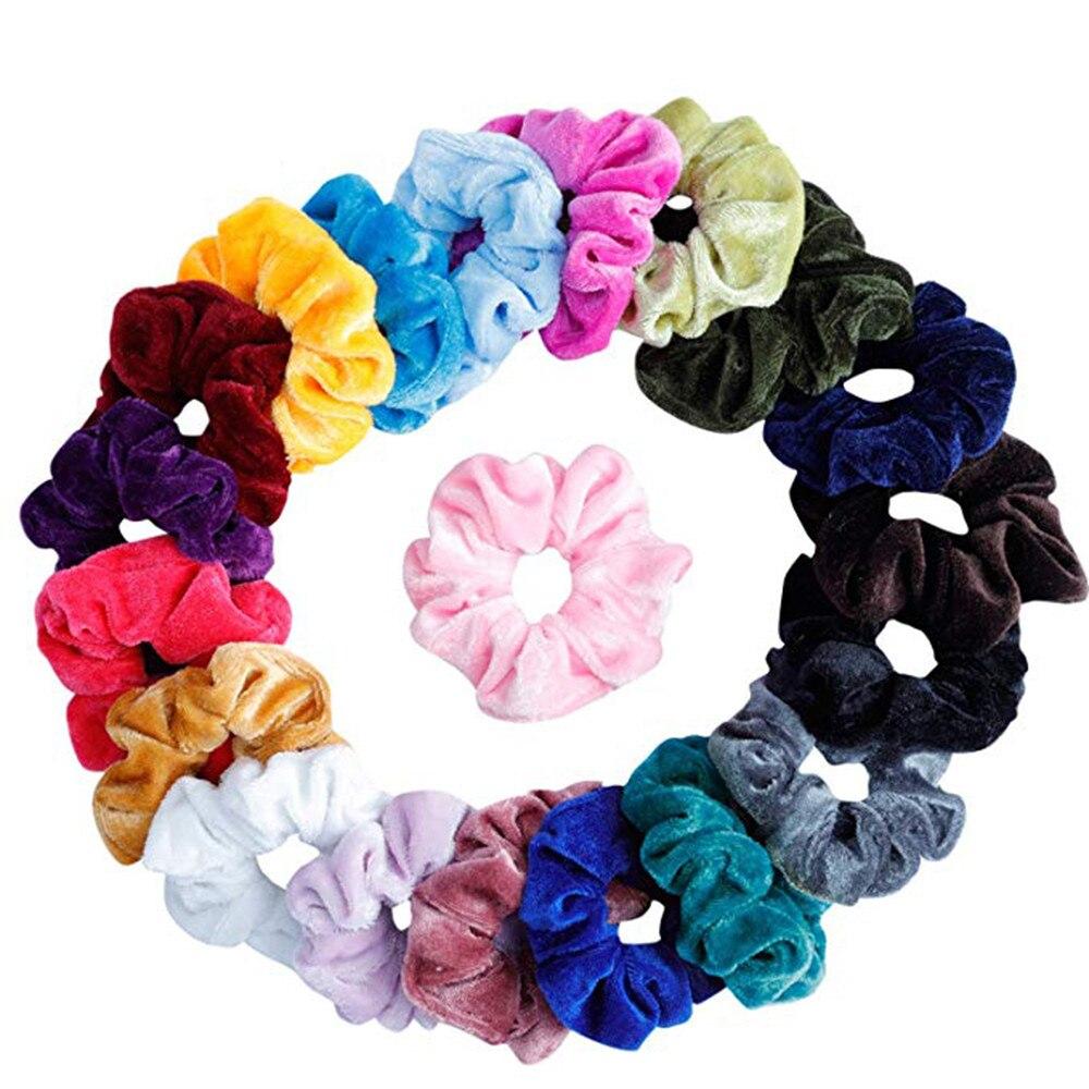 Ladies Womens Girls Hair Scrunchies Bobbles Elastics Hair Scrunchy Accessories