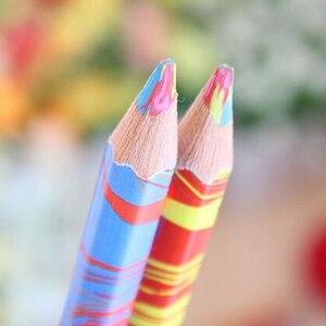 Image 3 - משלוח חינם 20 יח\חבילה מעורב צבעים קשת עיפרון אמנות ציור עפרונות כתיבה סקיצות ילדי גרפיטי ספר עט