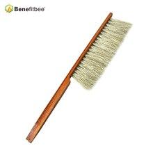 Benefitbee Brand Bee Brush Beehive Tool Beekeeping Equipment for Beekeeper Brushes Bamboo Handle Horse Hair apicultura
