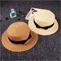 Verano Flojo de la Playa de la Paja Sombreros para el Sol Para Las Mujeres, Clásico Panamá Sombrero de Ala Ancha, sombrero de paja, chapeau femme paille ete, chapéu feminino