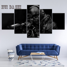 5 Panel Game Call Duty Ghosts Wallpapers Canvas Painting Print Bedroom Home Decor Modern Wall Art Painting Poster Picture Frame home decor canvas poster hotline miami painting wall art modern 5 piece oil painting picture panel print b 053