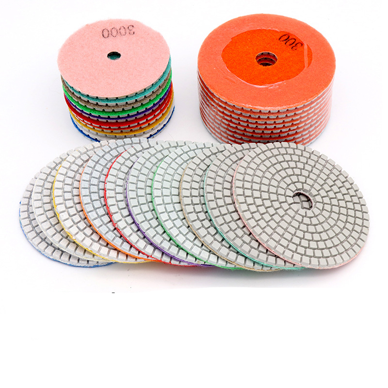 1pc 3inch 4inch Diamond Wet Polishing Disc White Marble Stone Ceramic Granite Concrete Grinding For Power Tool And Disc Holder