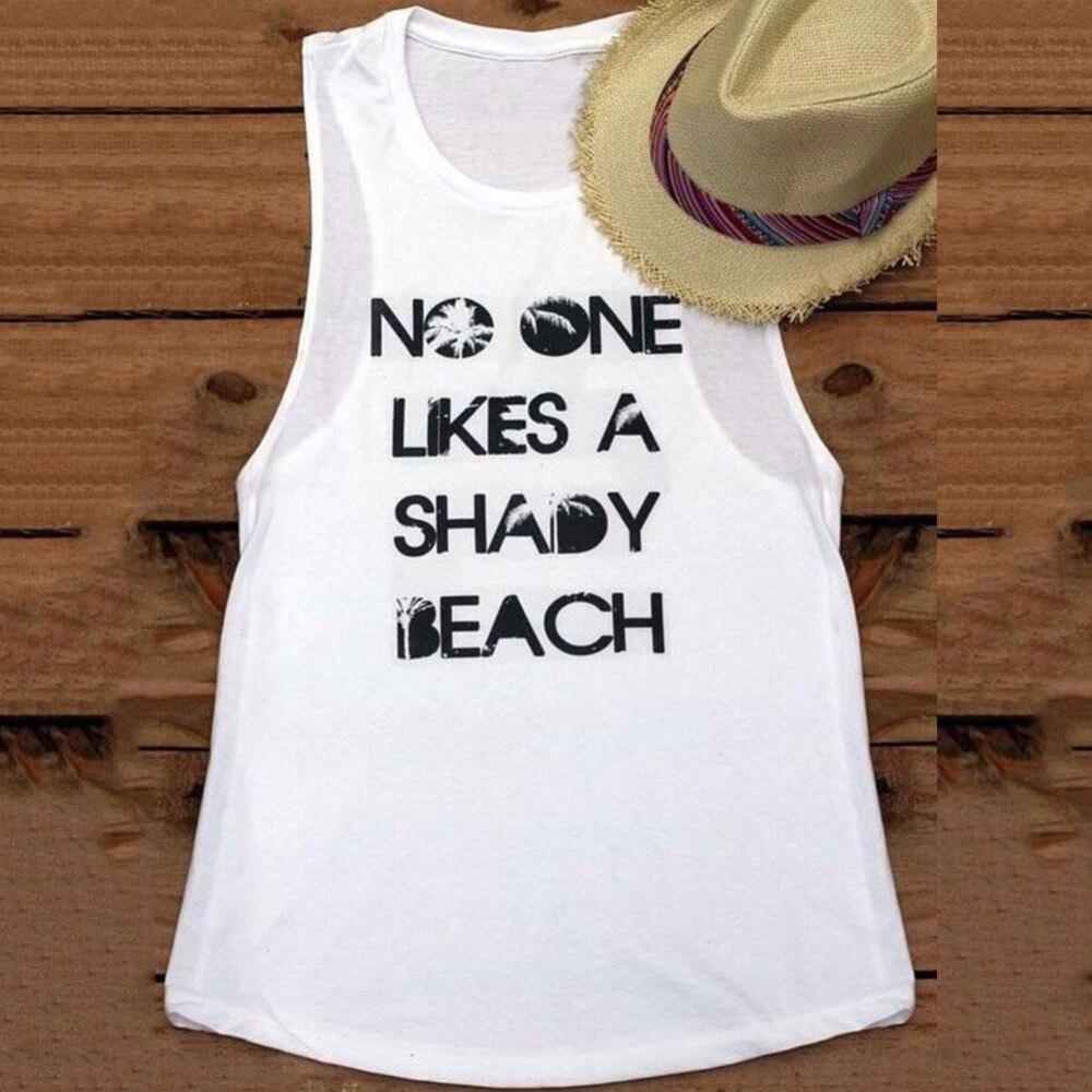 """9fe2da8c1c """"No one likes a shady beach"""" Beach Tank Top. """""""