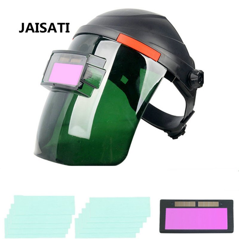 JAISATI Eye welder cap automatic dimming welding mask head wear grinding  argon arc glasses water welding masks welder machine plasma cutter welder mask for welder machine