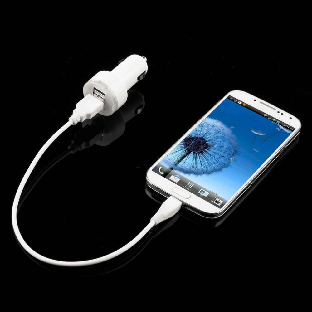 مصغرة المزدوج ميناء USB سيارة الطاقة مهايئ شاحن 12V 24V ل iPad2 3 ل iPhone4 4S بود MP3 اللوحي لسامسونج انخفاض الشحن