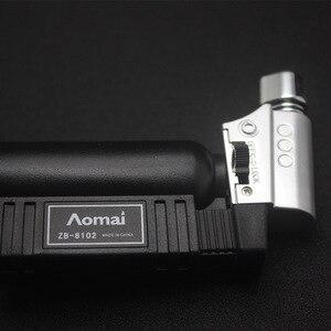 Image 5 - Hot BBQ Outdoor Torch Turbo Lighter Spray Gun Jet Butane Lighter For Kitchen Cigarette 1300 C Fire Windproof Lighter No Gas