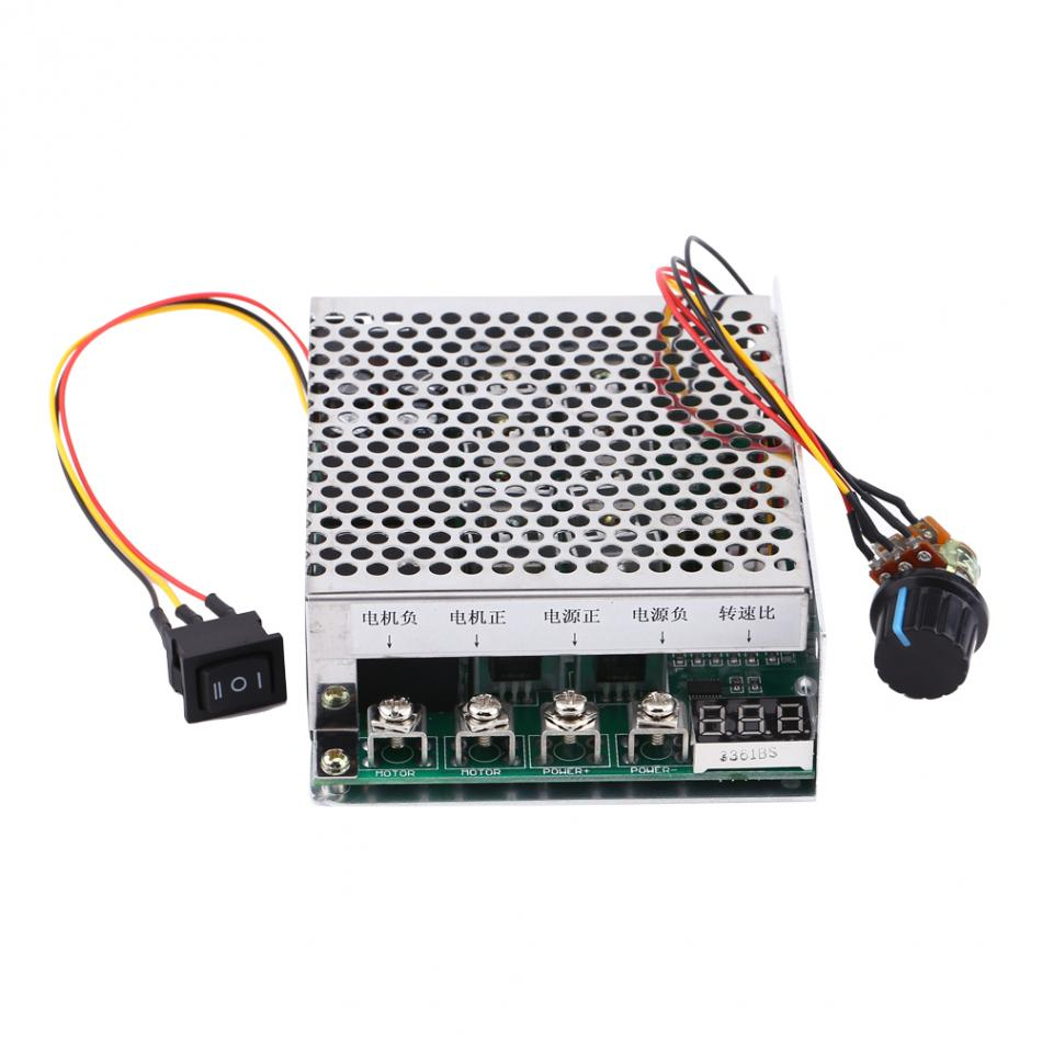 1 PC PWM Controler Governor Reversing Direction Switch DC Motor Speed Controller With Digital Display 10V-55V 60A DC motor plc dc10 55v max 60a pwm motor speed controller 0 100
