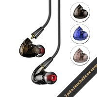 TENNMAK TRIO Detachable Dual Drivers Sport Earhook MMCX In Ear Earphones Earset Headphones With Microphone Remote