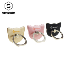 Sovawin Strong Metal Cat Finger Ring Back Holder Hook 360 Rotating Mount Mobile Phone Finger Grip Lazy Buckle Stand for Phone