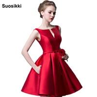 2016 New Fashion Fuchsia Vestido De Noiva Short Design Champange Color Lace Up Bridal Party Cocktail