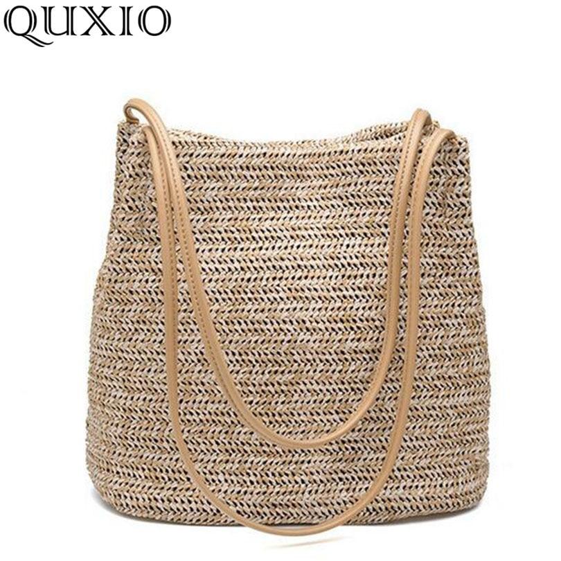 2018 South Korea's New Straw bag Casual Handbag Summer Holid