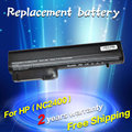 JIGU Laptop Battery For HP 2533t EliteBook 2530p EliteBook 2540p Hp Compaq Business Notebook 2400 2510p NC2400 4400mah 6CELLS