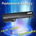 Jigu bateria do portátil para hp 2533 t elitebook 2530 p elitebook 2540 p hp compaq business notebook 2400 2510 p nc2400 4400 mah 6 células