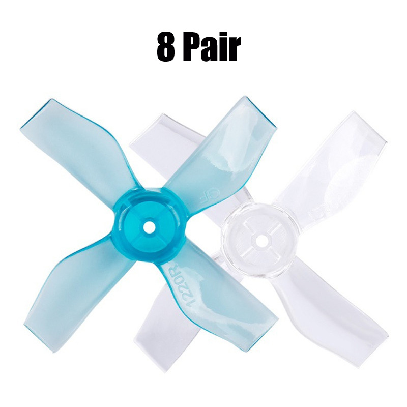 8 Pair GEMFAN 1219/<font><b>1220</b></font> 3/4 Blade 31mm PC Propeller Indoor for Brushless <font><b>Motors</b></font> RC Drone FPV Quadcopter Multicopter image