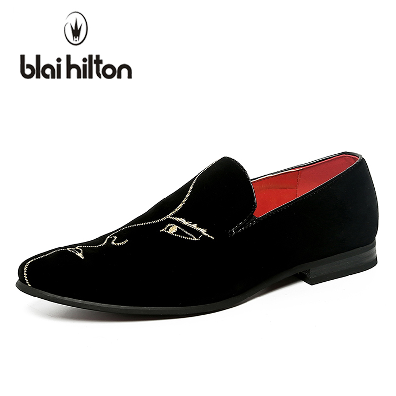 blaibilton Summer Genuine Leather Casual Men Shoes Loafers Face Embroidery Wedding Party Velvet Moccasins Luxury Flats Slip On blaibilton summer loafers men shoes 100