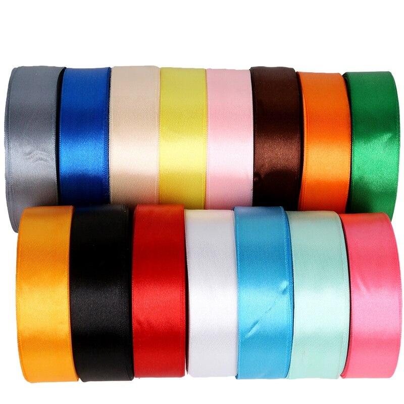 Атласная лента 25 ярдов мм упаковка материал DIY лук Ремесло Декор Свадебная вечеринка для упаковки подарков Скрапбукинг поставки