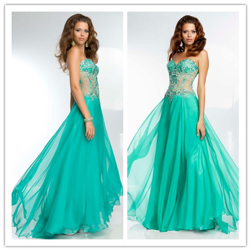 She fashions prom dresses 43