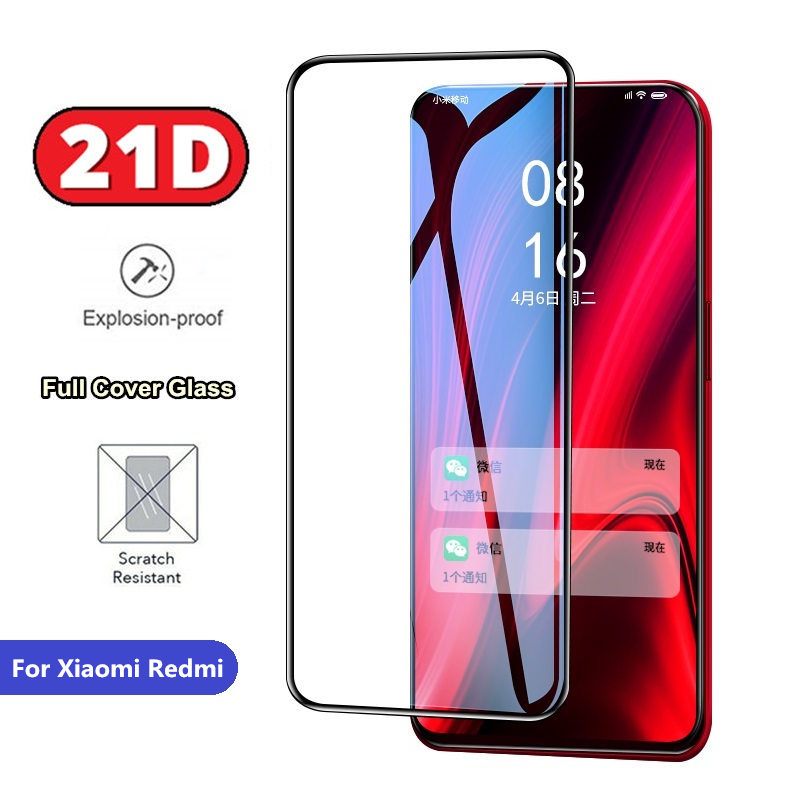 21D Tempered Glass For Xiaomi Redmi Note 7 6 5 Pro Redmi K20 Pro Global 7 7A 6 6A 5 Plus 4X 9H Full Screen Cover Protector