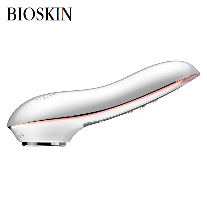 Купить с кэшбэком BIOSKIN Anion Sonic Hot Cold Face Massager Beauty Skin Care Vibration Anti-aging Firming Anti-wrinkle Spa Machine Rechargeable