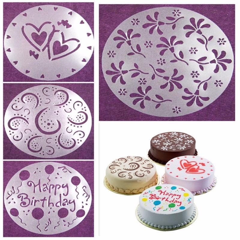 High Quality Cake Decorating Flower Stencils