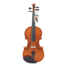 Log Material Electroacoustical 4/4 Violin Fiddle Stringed Instrument Musical for Adult violin lovers with Delicate Case Bag