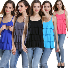 Hot wholesale!!! Free shipping modal soft and comfortable fashion design nursing tank tops