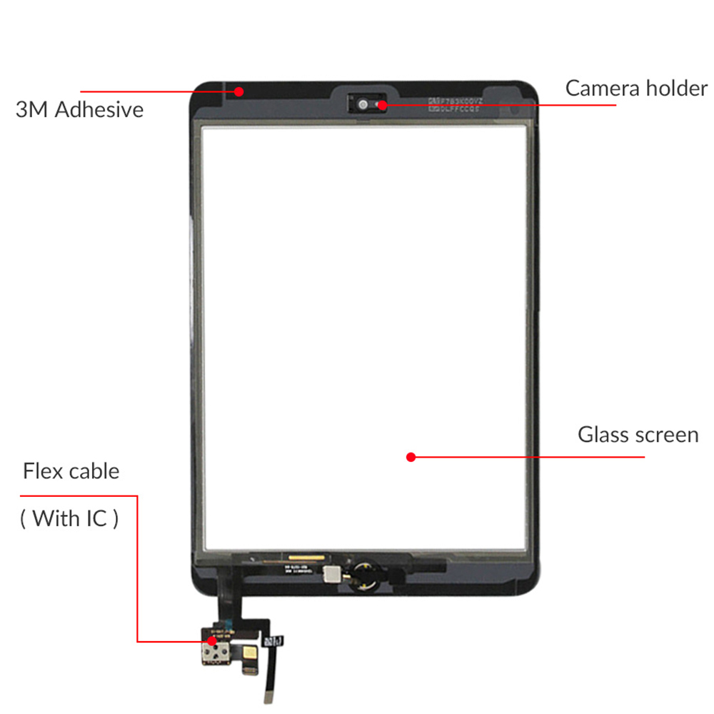 Image 5 - Touch Screen For iPad Mini 3 Mini3 A1599 A1600 A1601 7.9 Touch Digitizer Sensor with IC Connector+Home Button-in Mobile Phone LCD Screens from Cellphones & Telecommunications