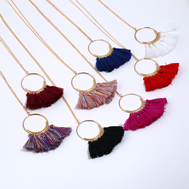 Long Tassel Bohemian Necklace