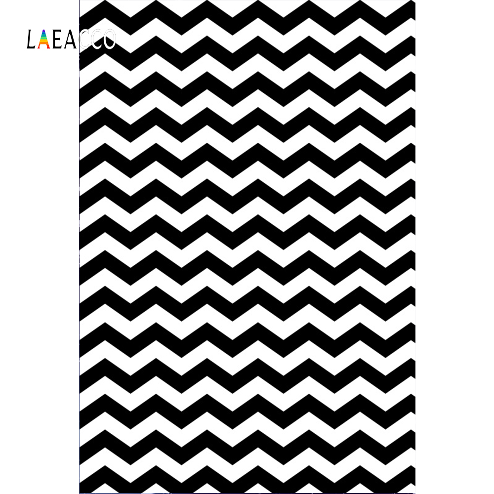 Laeacco Black And White Chevron Pattern Portrait  Photography Backgrounds Customized Backdrops For Photo Studio