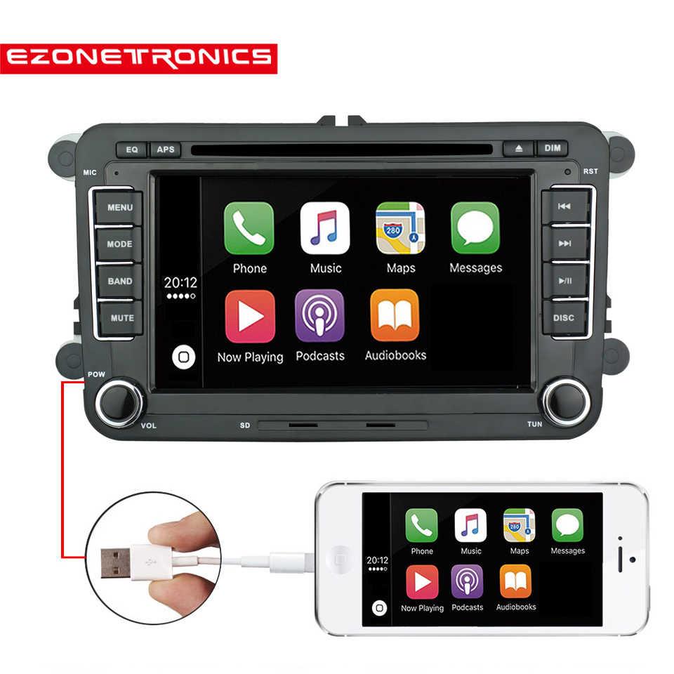 CD y Windows CE 6.0 radio de coche Bluetooth GPS Radio de coche de 7 pulgadas 2 DIN para VW Leon Multivan T5 Polo Passat iFreGo reproductor de DVD DAB+
