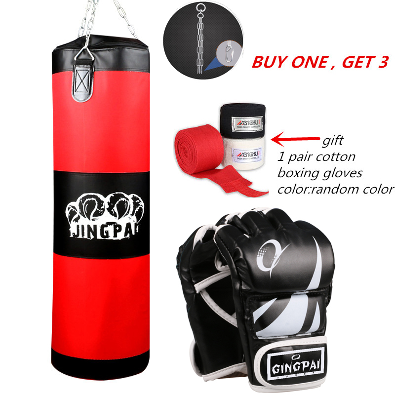 Empty Kick Boxing Bag 100cm Training Fitness Punching BagSaco De Pancada Boxeo Hook Hanging MMA Fight