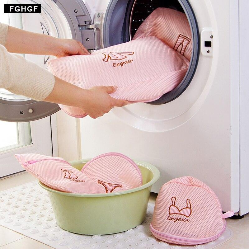 Mesh Dedicates Clothing washing bags for clothes Zipper Travel underwear laundry basket  Dryer Washing Machine Protect Bra Socks
