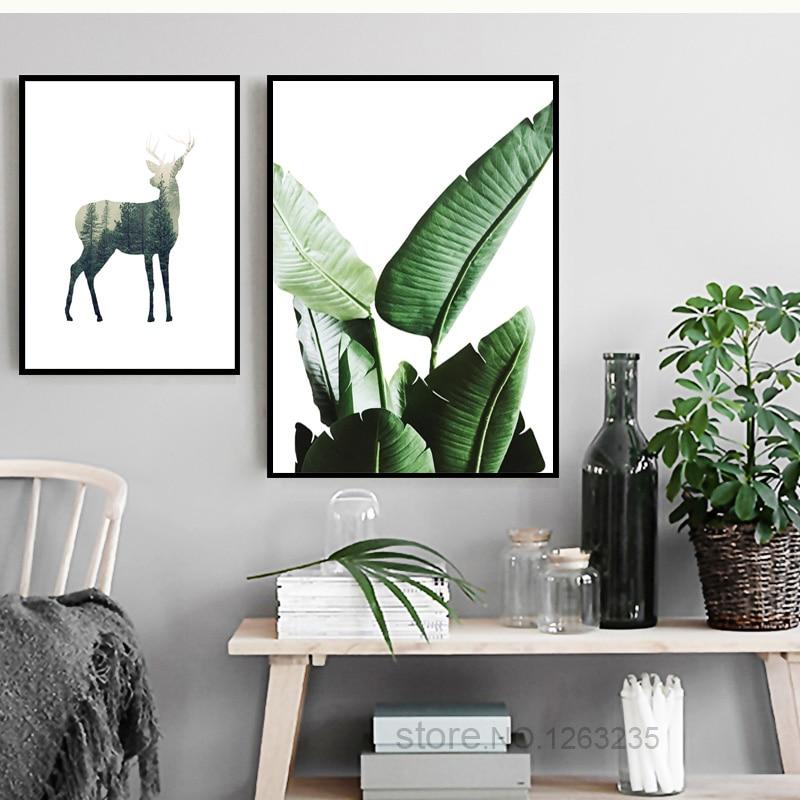 Oturma Odası Için duvar Resimleri Yeşil Bitki Nordic Poster Duvar - Ev Dekoru - Fotoğraf 3