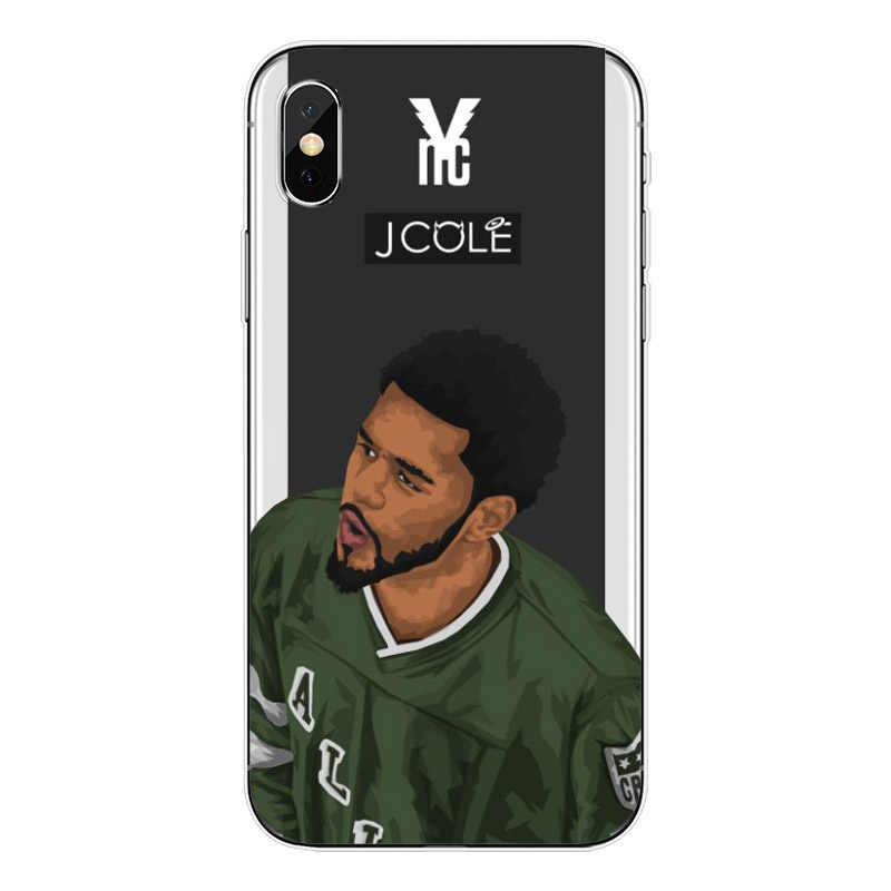 39137d51f36a6 Kendrick Lamar & J Cole painting art Soft TPU Phone Case For iPhone 5 5S SE  6 6S Plus 7 8 Plus For iPhone X 5.8 Silicone Cover