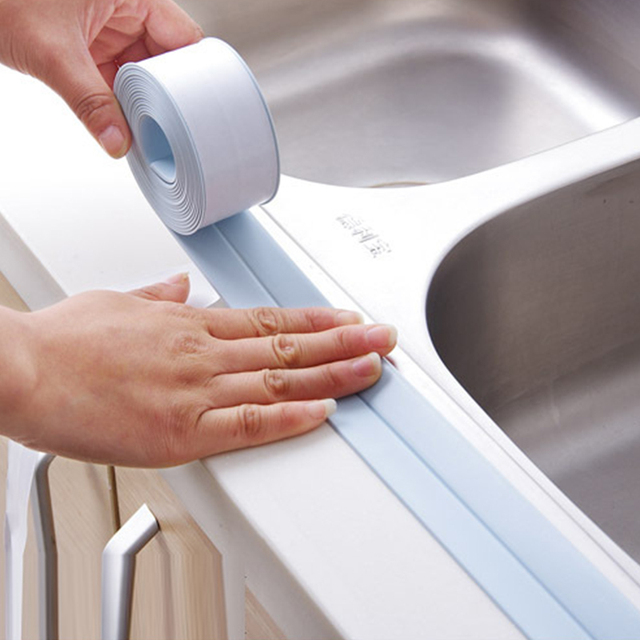 1 Roll 3*260cm Kitchen Tape Corner Line Stickers Modern PVC Waterproof Moisture Mildew Window Sticker Protection Bumper Strips