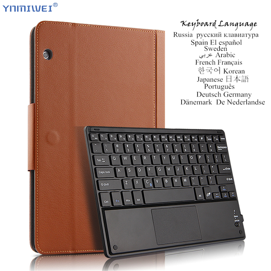 For Huawei MediaPad T5 10 AGS2-W09/L09/W19/L03 10.1'' Wireless Bluetooth Keyboard Tablet Case Stand Cover Multilingual Language