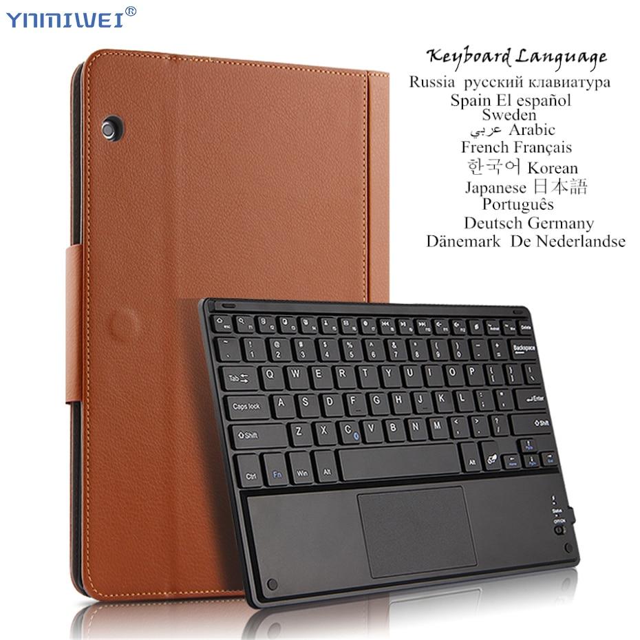 Pour Huawei MediaPad T5 10 AGS2-W09/L09/W19/L03 10.1 ''Sans Fil Bluetooth Clavier étui pour tablette Housse de Support Multilingue Langue