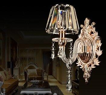 Nowoczesne jasne 1 Arm i 2 Arms kryształ sypialni kinkiet kryształ kinkiet ścienny z 100% K9 lampy kryształowe ściany AC 100% gwarantowana