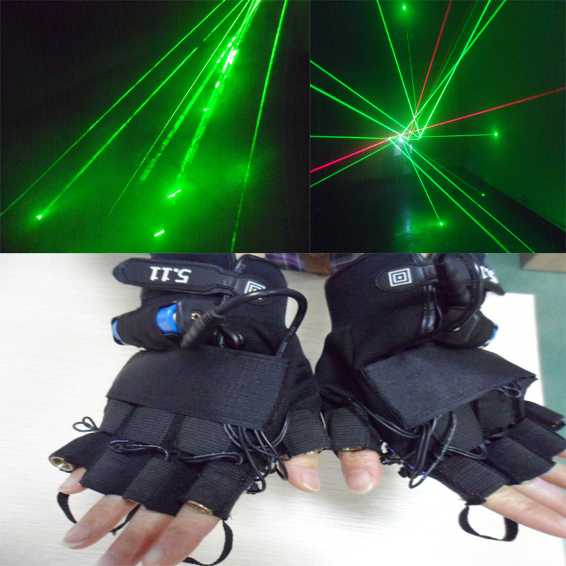ФОТО Special  532nm refers to the 4 green laser gloves 100MW stage equipment stage props