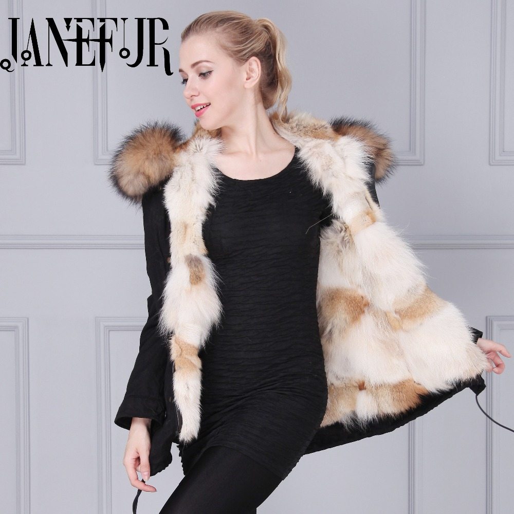 2016 New Winter Super Wolf Fur Lined Coat Women's Luxurious Fur Lining Long Down Jackets Female Parkas Thicken Outerwears new lone wolf and cub v 7