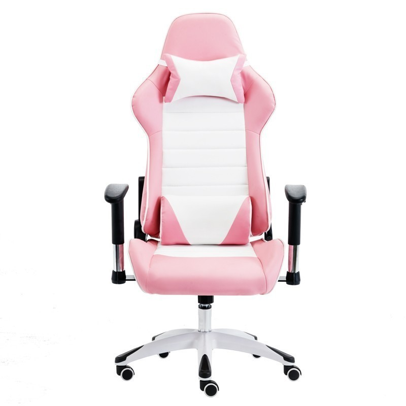 EU Free Shipping 8008 Pink Poltrona Gaming Esports Boss Silla Gamer Office Chair Massage With Wheel With Footrest Can Lie