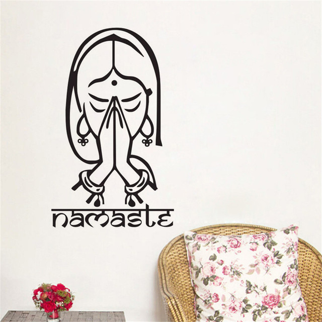 Welcome Namaste Wall Decals Vinyl Art Stickers Home Decor Living Room Yoga Studio Decoration