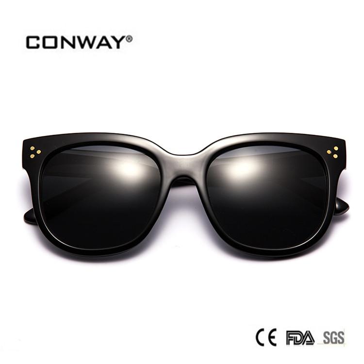 CONWAY sunglasses women oculos gafas de sol sun glasses lunette de soleil 2017 steampunk sunglases  polarized sunglasses round